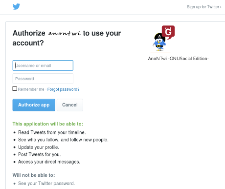 anontwi authorize twitter
